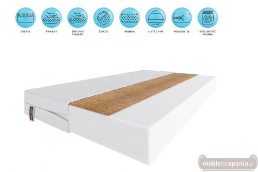 Materac piankowo-kokosowy 11 cm Kevin 90x200